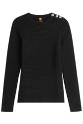 True Religion Wool Pullover With Embossed Buttons Gr. M