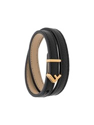 Fendi F Logo Double Wrap Bracelet Black