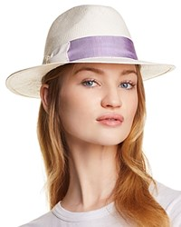 Aqua Bow Detail Fedora 100 Exclusive Natural Lilac