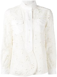 Moncler Open Embroidery Jacket Nude Neutrals