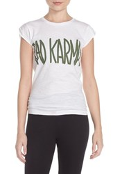 Women's Happiness 'Bad Karma' Cap Sleeve Tee