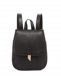 Foley Corinna Lola Leather Flap Backpack Black