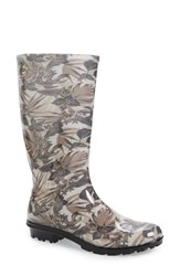 Women's Ugg 'Shaye Island' Floral Waterproof Boot Red Rubber