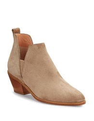 Sigerson Morrison Belin Suede Ankle Boots Ivory