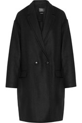 Isabel Marant Filipa Oversized Wool And Cashmere Blend Coat Black