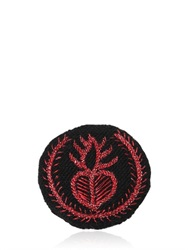 Ann Demeulemeester Medium Heart Embroidery Cotton Blend Pin