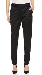 Victoria Beckham Wrap Belt Chino Pants Black Twill