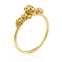 Lee Renee Loveliness Of Ladybirds Ring Gold Gold Yellow Orange