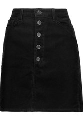 J Brand Rosalie Cotton Blend Corduroy Mini Skirt Black