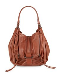 Kooba Leather Hobo Bag Cinnamon