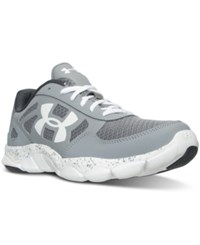 Under Armour Men's Micro G Engage Running Sneakers From Finish Line Steel White White