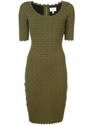 Milly U Neck Dress Green
