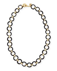 Ashley Pittman Mtego Round Dark Horn Link Necklace Brown