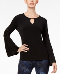 Thalia Sodi Embellished Bell Sleeve Top Created For Macy's Deep Black