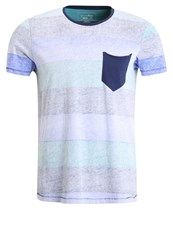 Tom Tailor Denim Print Tshirt Summer Teal Multicoloured