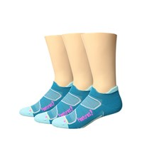 Feetures Elite Light Cushion No Show Tab 3 Pair Pack Capri Pink Pop No Show Socks Shoes Blue