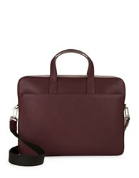Jack Spade Barrow Saffiano Leather Briefcase Wine