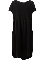 Societe Anonyme Boat Neck Loose Fit Dress Black
