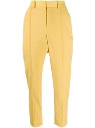 Zadig And Voltaire Straight Leg Trousers Yellow