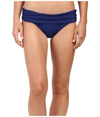 Athena Cabana Solids Lani Banded Bikini Bottom Navy Women's Swimwear