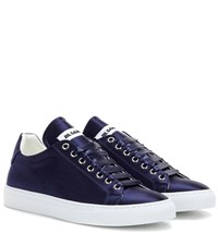Jil Sander Satin Sneakers Blue