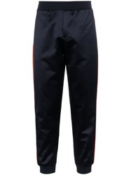Alexander Mcqueen Navy Blue Stripe Leg Sweatpants