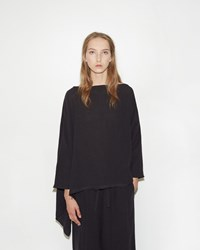 Dua An Asymmetrical Sweater Black Tulip