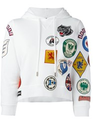 Dsquared2 Patch Pullover Hoodie White