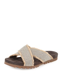 Canvas Crisscross Slip On Brunello Cucinelli