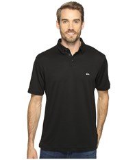 Quiksilver Water Polo 2 Short Sleeve Knit Polo Black Men's Short Sleeve Pullover
