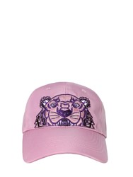 Kenzo Tiger Embroidered Nylon Canvas Hat Pink
