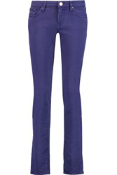 M Missoni Mid Rise Straight Leg Jeans Purple
