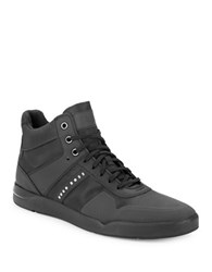 Hugo Boss Feather High Top Sneakers Black