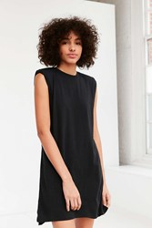 Silence And Noise Rolled Cuff Muscle Tee Dress Black