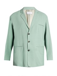 Raey Soft Tailored Crepe Blazer Mint