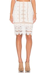 Endless Rose Lace Overlay Skirt White