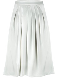 Emporio Armani Pleated Front Skirt Grey