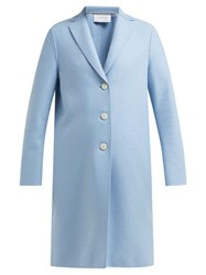 Harris Wharf London Pressed Wool Overcoat Light Blue