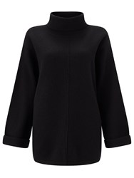 Jigsaw Boiled Wool Zip Jumper Black