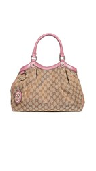 Wgaca What Goes Around Comes Around Gucci Funk Pink Canvas Sukey Bag