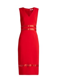Altuzarra Burke Stud Embellished Crepe Dress