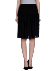 Niu' Knee Length Skirts Black
