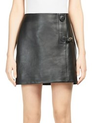 Acne Studios Lise Leather Mini Skirt Black