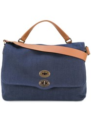Zanellato Removable Strap Tote Blue