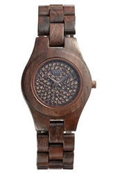 Wewood 'Moon Crystal' Wood Bracelet Watch 29Mm Chocolate