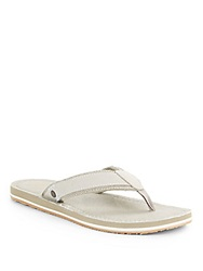 Original Penguin Dune Linen And Canvas Thong Sandals Khaki
