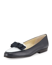 Amalfi By Rangoni Orto Leather Loafer Navy White