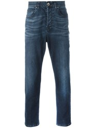 Eleventy Tapered Cropped Jeans Blue