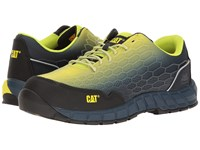 Caterpillar Expedient Composite Safety Toe Lime Blue Men's Lace Up Casual Shoes Yellow