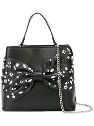 Christian Siriano Embellished Bow Tote Bag Black